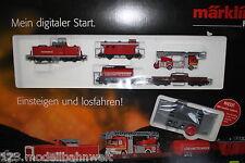 Märklin 29750 Starter-Set Feuerwehrzug Digital mit Mobilstation Spur H0 OVP