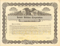 United Utilities Corporation > 1920s stock certificate share