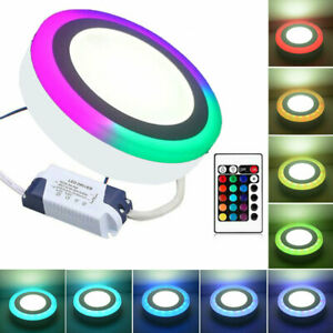 24W RGB Dual Colour Changing Ring Halo Round Surface Ceiling LED Panel Light