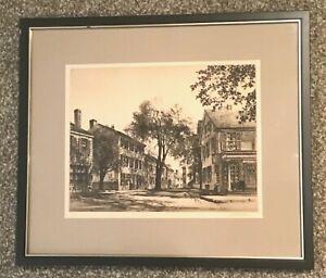 Original Samuel Chamberlain Signed Etching Print Ed 300