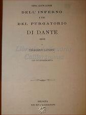 DIVINA COMMEDIA: Landoni, Luoghi dell'Inferno e Purgatorio di Dante 1872 Bologna