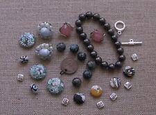 Jewelry Making Supplies*#39 Lot*2 Clip Back  00004000 Earr*Mosaics*Calsilica*Br acelet*Tibt