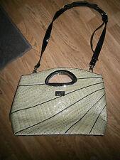 Beijo Apple Green Designer Bag Shoulder Strap Purse Faux Alligator Zip Closure