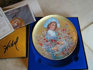 """New Edna Hibel  First in Flower Girl Series """"Lily""""  Collectors  Plate"""