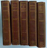 5 Vintage Thackeray Volumes 1903 Pendennis Ballads Denis Duval Reviews Punch