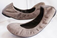 New Tory Burch Eddie Shoes Gray Suede Size 6 Ballet Flats Sale