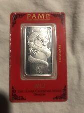 2012 Pamp Lunar Snake 1oz. Silver Bar