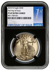 2018-W 1 oz. Gold American Eagle Proof $50 NGC PF69 UC FDI Black Core SKU53155