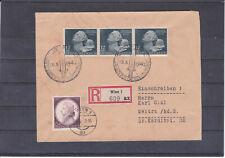 TOP frankierter Reco Brief von Wien nach Weitra ECHT gel. 1942