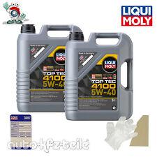 Liqui Moly 3701 LM 3701 Motoröl, Öl, Top Tec 4100 5 W-40 10 L