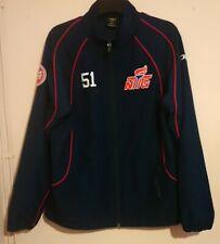 Norges Toppidretts Gymnas Team Issue Navy Blue Zip Jacket Ntg # 51 Jog Riis L