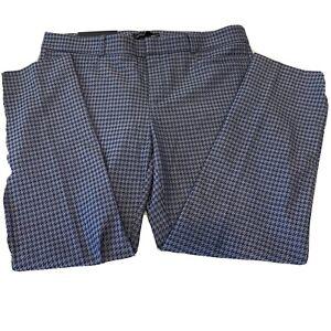 Banana Republic Women's Pants 10P Sloan NWT Blue Houndstooth Business Career
