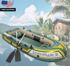 Inflatable Fishing Camping Rafting Family Boat with 2 Oars for 3 People