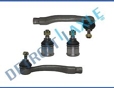 New (2) Front Lower Ball Joints & Outer Tie Rod Ends for Honda Civic Del Sol