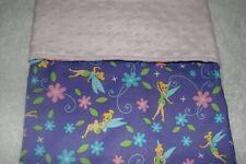Tinkerbell Cotton Front Pink Minky Bassinet/Crib Blanket Handmade