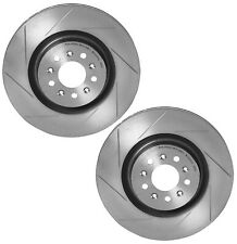 Brembo Pair Set of 2 Front Slotted 355mm Disc Brake Rotors For Aston Martin DB9