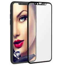 """Protecteur d'ecran en verre trempée pour Apple iPhone X (5.8"""") - noir"""