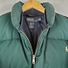 New listing Rare Vtg Polo Ralph Lauren Medium Mens Goose Down Winter Puffy Jacket Coat Green