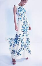 Eliza J Print Crêpe de Chine Mermaid Gown ( Size 14)