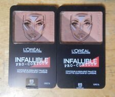 2 duo lot LOREAL INFALLIBLE PRO CONTOUR & HIGHLIGHT PALETTE 815 DEEP unseal FLAW