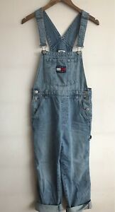 Tommy Hilfiger Stonewashed Denim Dungarees Overalls Relaxed 90s Style 28 NWT❤️