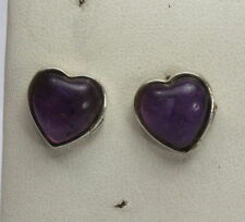 Heart Not Enhanced Amethyst Fine Earrings