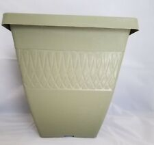 """9.75"""" SQUARE ZEN PLASTIC PLANTERS - Set of 5 OLIVE - pots flower"""