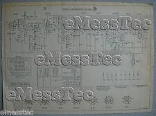 METZ Typ 402 W Schaltplan Ausgabe 1, Stand 08/52
