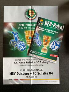 DFB-Pokalendspiele 2011 MSV Duisburg - Schalke 04 + Hansa Rostock - SC Freiburg
