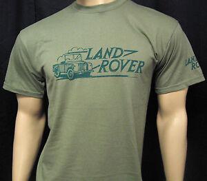 LAND ROVER LOGO T-SHIRT - 5 sizes Olive Green or Khaki