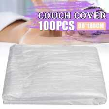 100Pcs Disposable Bed Couch Pad Cover Plastic Massage SPA Salon Table Sheet