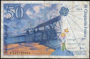 1996 50 Francs France Vintage Old Paper Money Banknote Currency Note Bill VF