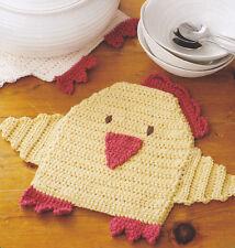 Crochet Pattern ~ CHICKEN HOT PAD Easter Potholder ~ Instructions