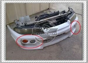 CARBON SPEC-2 OEM FRONT BUMPER FOG LAMP COVER REPLACEMENT FOR R33 GTS