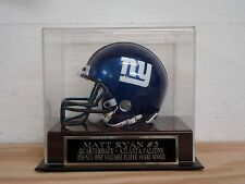 Football Mini Helmet Display Case With A Matt Ryan Falcons Engraved Nameplate