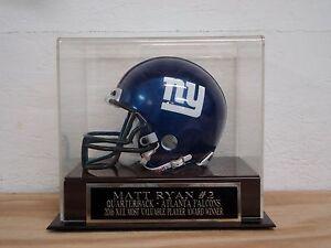 Matt Ryan Football Mini Helmet Display Case With A Falcons Engraved Nameplate