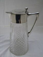 JUDAICA, Silver & Crystal Claret Jug Wine Decanter, Wilhelm T Binder..Circa 1900