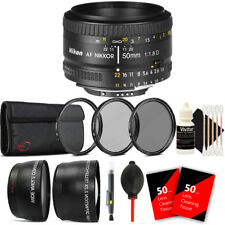 Nikon AF FX NIKKOR 50mm f/1.8D Lens for Nikon D7000 D7100 with Accessory Kit