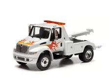 Greenlight 1/64 International Tow Truck Wrecker White Cab w/ Flames - 29796