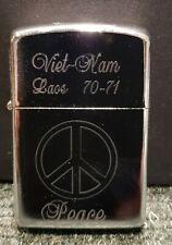 """Retro Copy Vietnam War Style Wind Proof Lighter: """"Peace"""""""