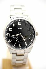 FOSSIL MEN FS4848 Agent Black Dial Stainless Steel  New Box