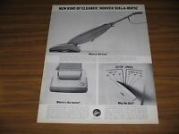 1963 Print Ad Hoover Dial-A-Matic Vacuum Cleaners North Canton,Ohio
