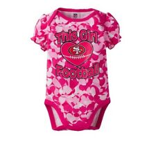 Gerber Baby Girl NFL San Francisco 49ers Pink Camo Onesie Size 3-6M