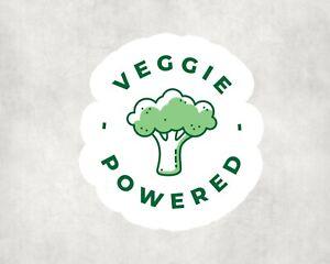 2 x Veggie Powered Eat Plants Vegan Sticker Car Bike Seal Laptop Indoor Decals