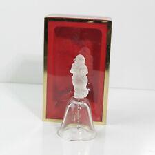 "Nice Vintage Crystal Lenox 2000 Santa'S List Annual Christmas Bell 4-3/4"" Tall"