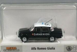 29524 Brekina HO scala 1:87 Alfa Romeo Giulia 1600 Carabinieri 1962