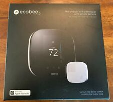 Ecobee 3 Smart Wi-Fi Thermostat with Room Sensor-Original Box with a New Battery