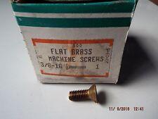 Brass Flat Head Slotted Machine Screws 3/8-16 x 1