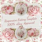 Shabby Vintage Roses ~ Listing Template Mobile Responsive Policy Compliant |508E