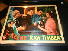 #4109,Vintage Seldom Seen Color Lobby Cd-Tom Keene Raw Timber,1937